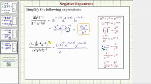 ex 3 simplify expressions with negative exponents