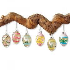 glass easter egg ornaments glass easter eggs lillian vernon