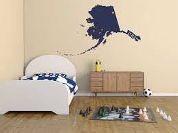 buckeye inkworks us state flag in a state shape alaska flag in the state shape wall decal