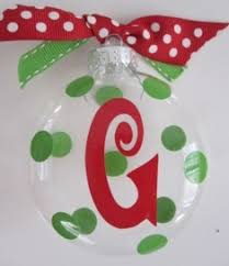 monogrammed ornaments are here