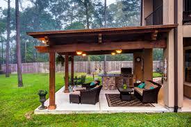 Pergola Outdoor Kitchen The Crescent Oaks Custom Outdoor Pergola With Outdoor Kitchen