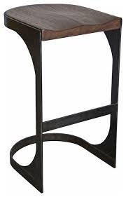 Industrial Metal Bar Stool Modern Andie Industrial Loft Rustic Wood Metal Counter Stool Of