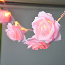 aliexpress com buy battery powered 2 2m 20led pink rose flower