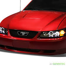 mustang projector headlights for 1999 2004 ford mustang dual halo projector headlights blk