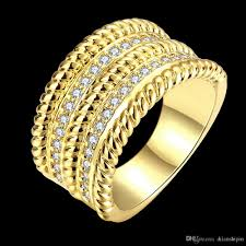 big ladies rings images African fashion jewelry 18k gold rose gold plated luxurious cz jpg