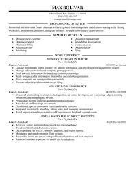 Sample Office Assistant Resume Grants Administrative Assistant Government Military Office