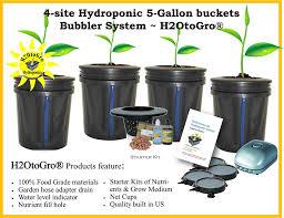 amazon com dwc 4 site hydroponic bucket bubbler grow kit patio