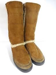 ugg boots in womens size 12 ugg uggs sunburst boots chestnut white shearling trim s