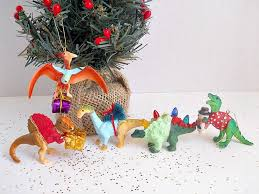 Dinosaur Christmas Decoration by Diy Plastic Animal Ornaments Blitsy