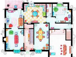 simpsons house floor plan see the floor plans from your favourite tv homes business insider