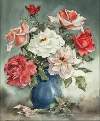 The Blue Vase Works On Paper John R Upton Australian Art Auction Records