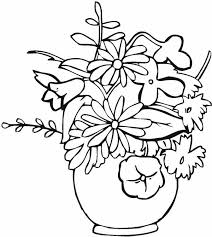 coloring vase flowers vase flowers coloring pages