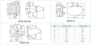 nos2 series thermal overload relay circuit breakers nonarc