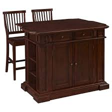 cherry kitchen islands americana kitchen island two stools cherry home styles target