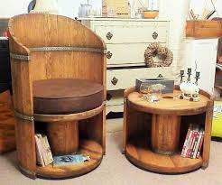 Cable Reel Chair Reclaimed Wood Cable Reel Style Chair And Storage In St Ives