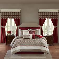 madison bedroom set madison park essentials katarina red 24 piece complete bedroom set