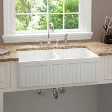 Repairing Porcelain Farmhouse Sink  The Homy Design - Kitchen sinks apron front