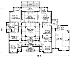 mediterranean house plans with courtyards mediterranean floor plans with courtyard 1 center
