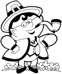 Friends Across America - FREE Coloring Page Printables - Leprechan friendsacrossamerica.com