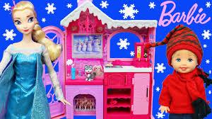 barbie dream house black friday barbie life in the dreamhouse dollhouse frozen kids u0026 elsa snow
