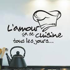 autocollant cuisine cuisine autocollants français stickers muraux décor à la maison