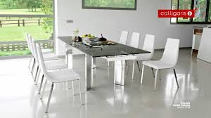 tower 10 person extending metal u0026 glass table youtube