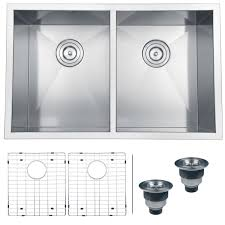 stainless steel double bowl undermount sink ruvati rvh7350 undermount 16 gauge kitchen sink double bowl 30
