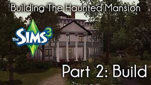 haunted house floor plan the sims 3 building the haunted mansion build youtube