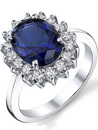 coloured sapphire rings images Solid sterling silver kate middleton 39 s engagement ring jpg