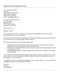ideas collection cover letter for food science job on letter