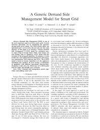 a generic demand side management model for smart grid pdf
