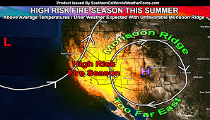California Weather Map Extremely Dangerous Fire Season Expected Across Southern
