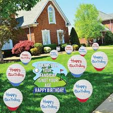 Birthday Lawn Decorations 49 Best Birthday Decorations Images On Pinterest Birthday