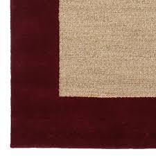 Maroon Rug Classic Wool Border Rug Pbteen