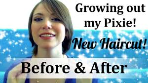 growing hair from pixie style to long style growing out my pixie cut update new in between hair before and