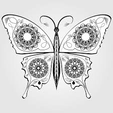 butterfly with lace pattern on wings monochromatic white and