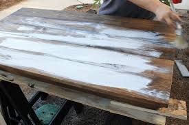 white stain on wood table how to create a weathered wood gray finish angela marie made