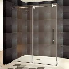 48 Inch Glass Shower Door Lesscare 48 Or 60 X 79 X 36 Inch Frameless Chrome Brushed Nickel