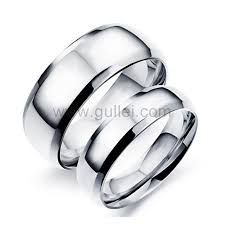 simple wedding bands outside personalized names titanium simple wedding bands