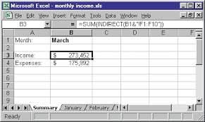 excel tips from john walkenbach referencing a sheet indirectly