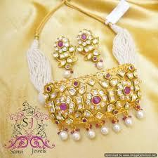 beautiful necklace online images Buy ruby kundan meena choker necklace sanvi jewels jpg