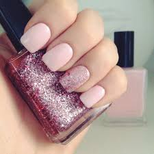 light pink gel nails with glitter u2013 new super photo nail care blog