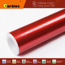 glossy metallic pearl red paint color vinyl wrap film for cars