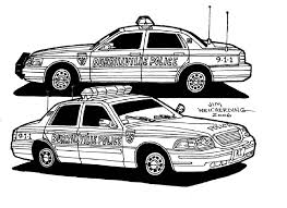 police car coloring kids throughout pages creativemove me