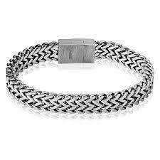 bracelet magnetic stainless steel images Stainless steel 8 5 quot balinese wheat chain bracelet magnetic jpg