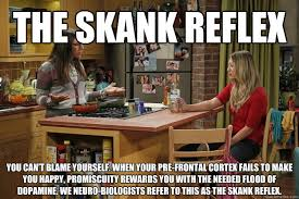 Skank Meme - the skank reflex you can t blame yourself when your pre frontal