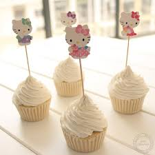 hello wedding cake topper 24 pcs lovely cut cat hello cup cake topper sweet cat