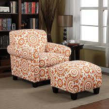 Chairs With Ottomans For Living Room Amazon Com Handy Living Winnetka Chair U0026 Ottoman In Orange