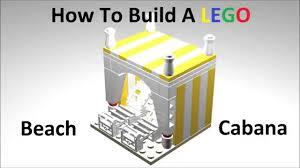 how to build a lego beach cabana custom moc instructions youtube