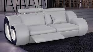 canapé 2 places relax cuir canape cuir deux places maison design wiblia com